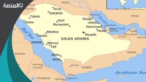 كم مساحة السعودية