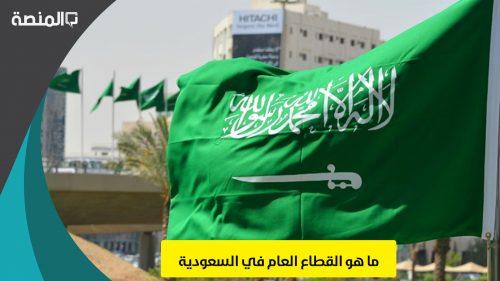 ما هو القطاع العام في السعودية