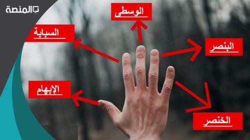 أسماء أصابع اليد بالعربية