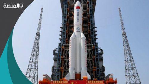 الصاروخ الصيني الخارج عن السيطرة اين هو الان